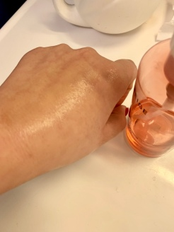 Cleanser when massaged onto the skin